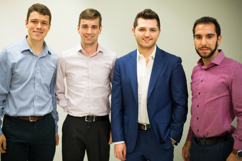 H2i Health Commercialization Award winners (l to r) Robert Brooks, Cameron Stewart, Alex Bibily and Mark Cicero