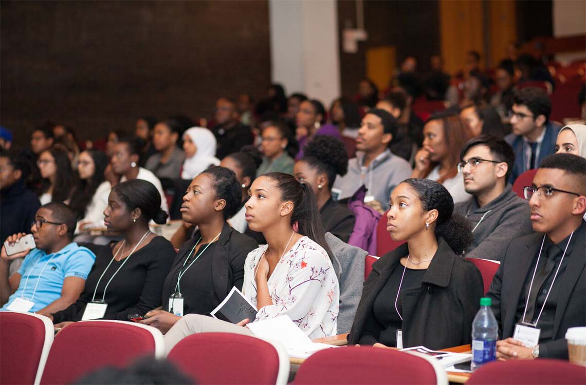 Students at a Faculty of Medicine conference promoting diversity within the profession (photo by Justice Achampong)