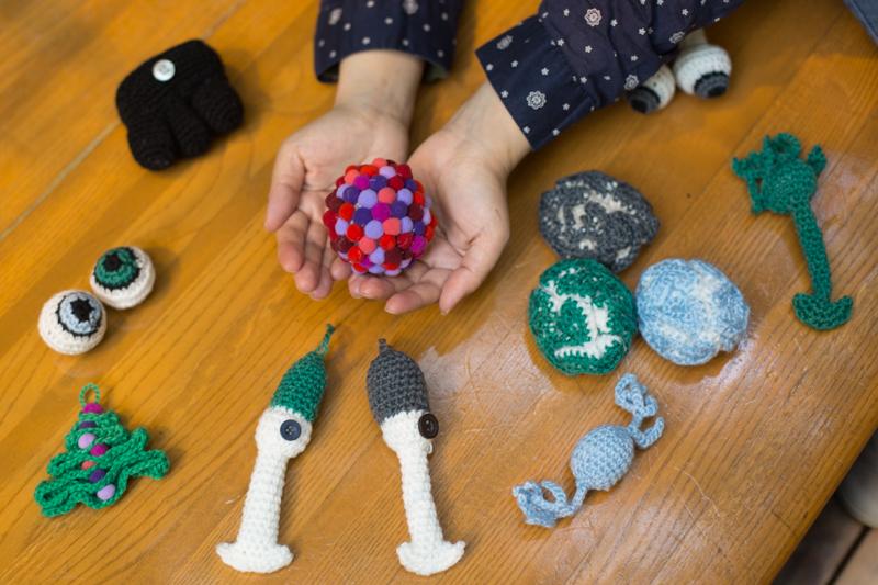 Tahani Baakdhah's crocheted SciArt