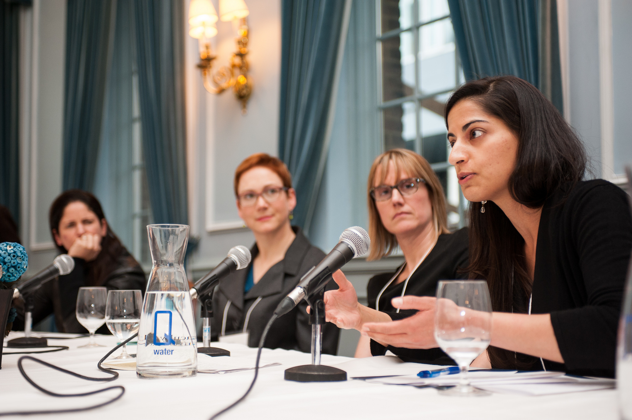Panelists speak during the Department of Medicine's inaugural Summit for Women in Academic Medicine.