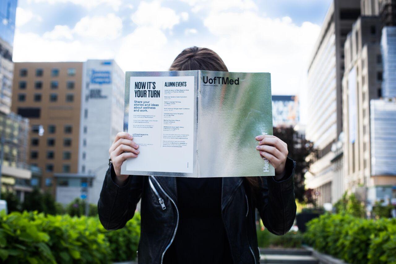 Reading UofTMed magazine