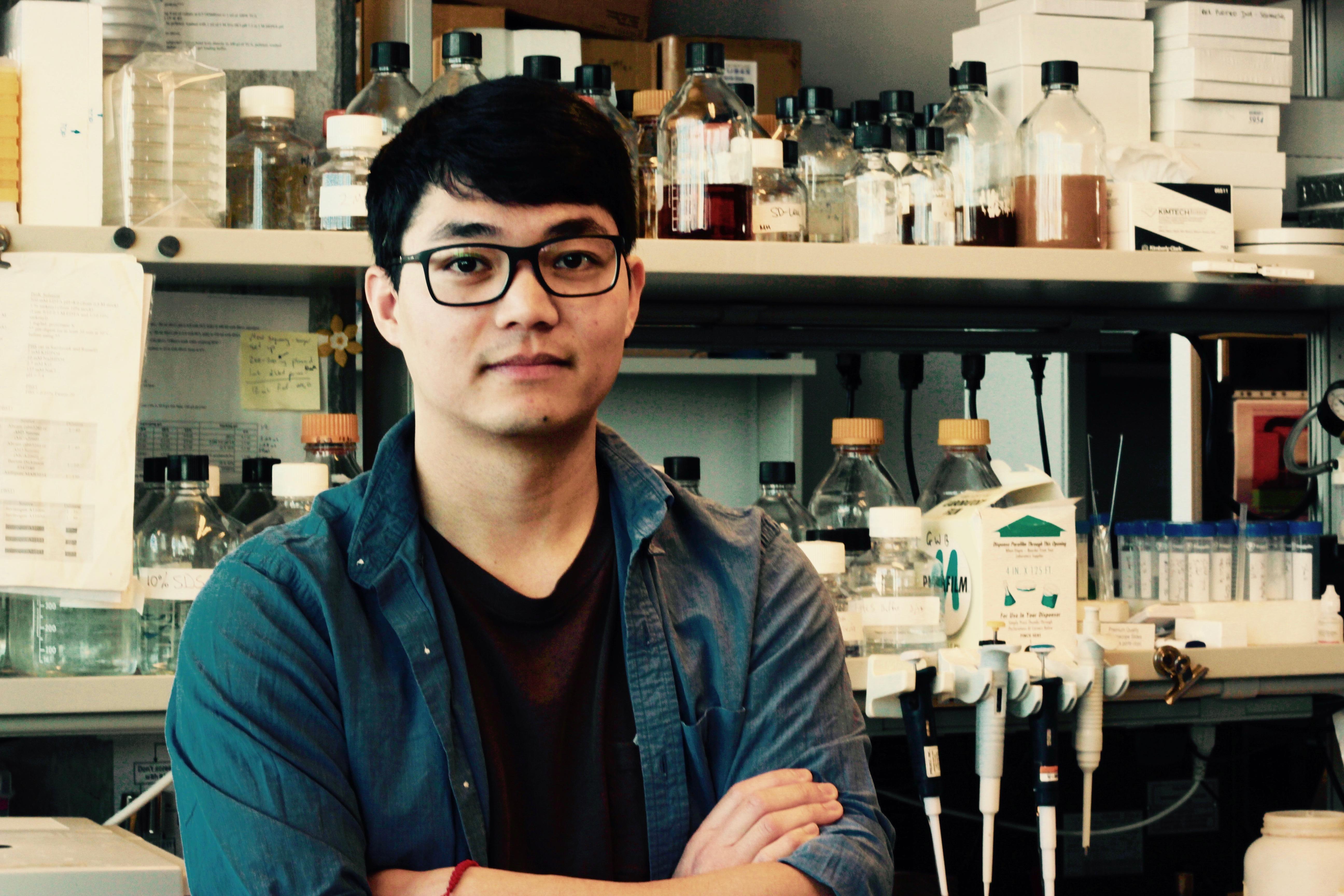 Brandon Ho – graduate student in the lab (Credit: J Drinjakovic)