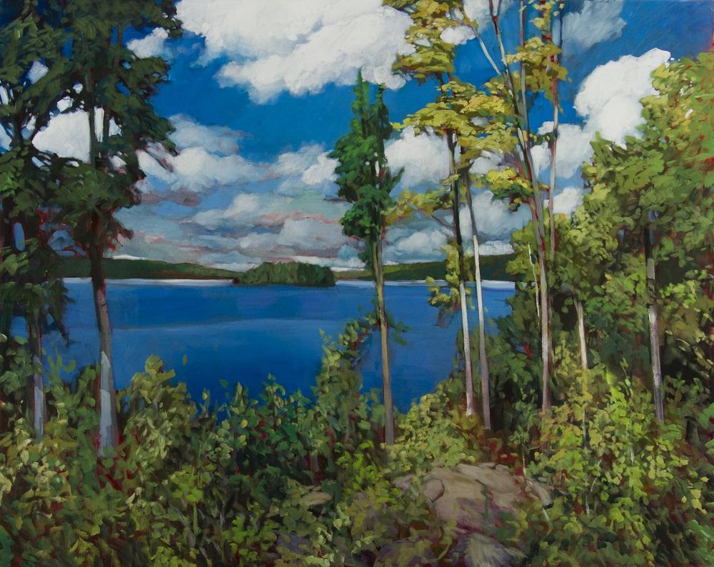 Painting_Elephant Lake by Philip Craig