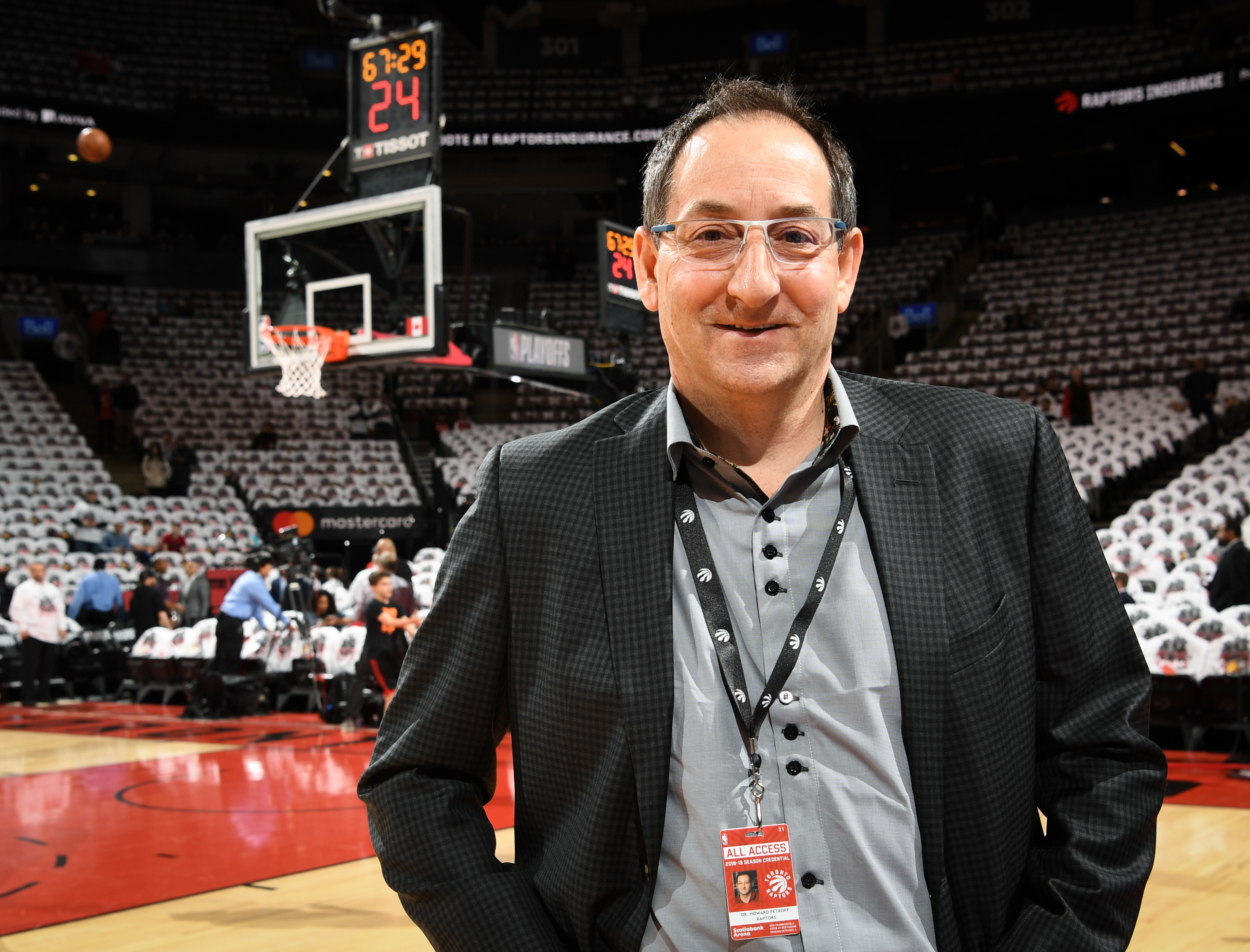 Howard Petroff, assistant medical director for the Toronto Raptors