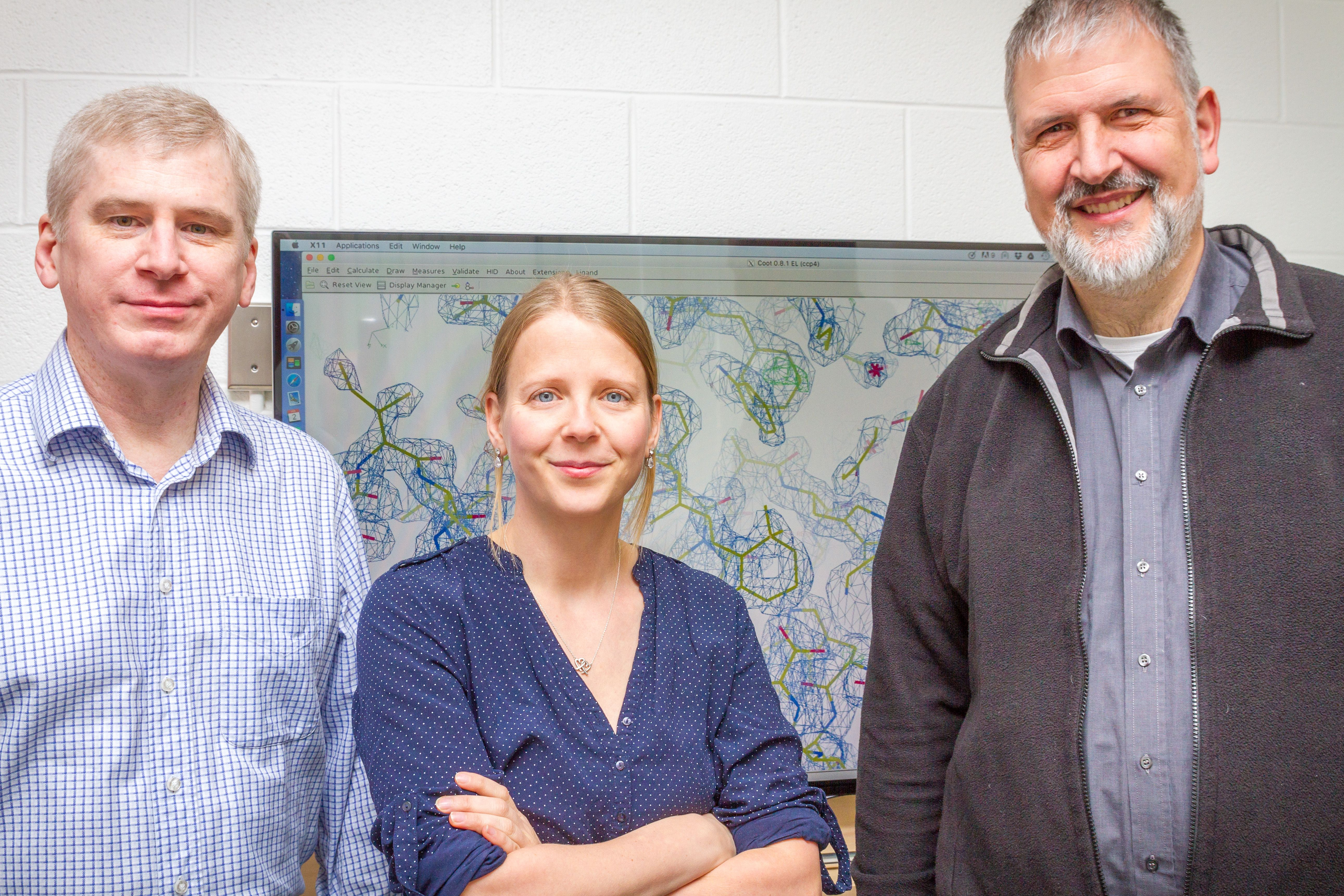 From left, authors Bryan T. Eger, Jana Broecker, and Prof. Oliver P. Ernst
