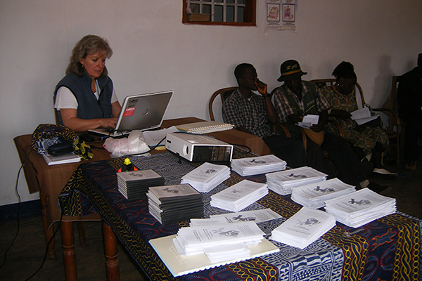 Lynn Cockburn leading an HIV and disability workshop in Cameroon