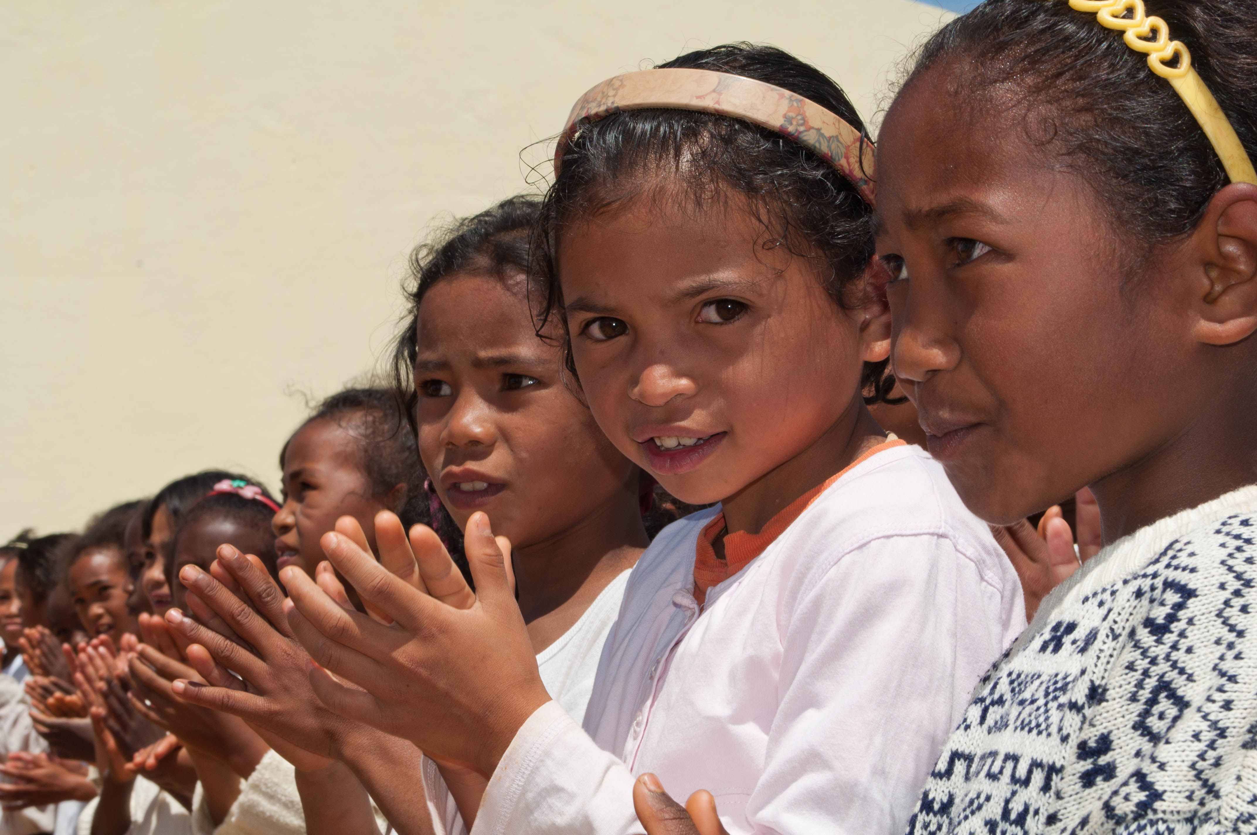 Merina girls of highland Madagascar. Credit: https://www.flickr.com/photos/saveoursmile/5614134410/in/photostream