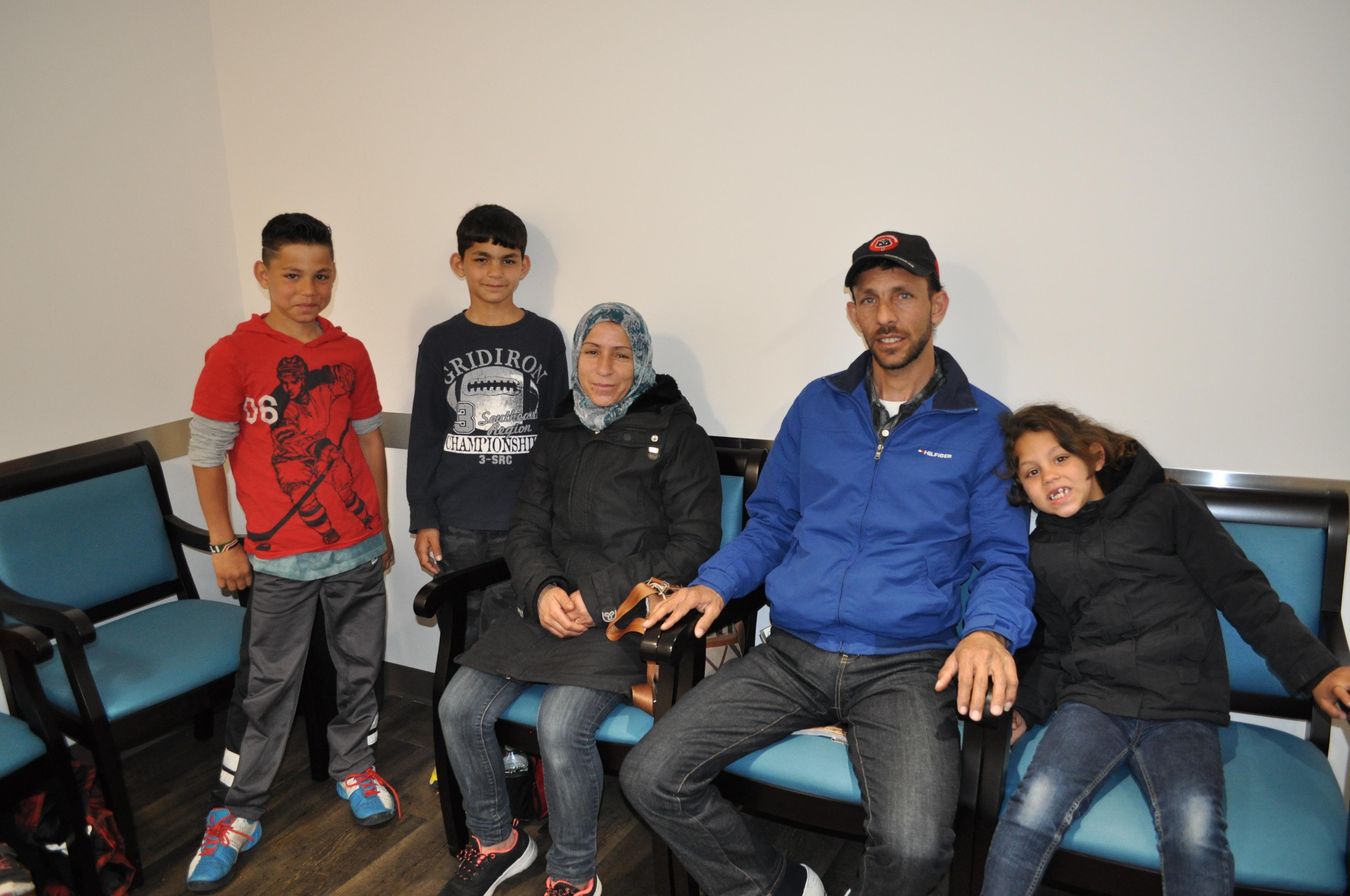 Members of the Malak family, Syrian immigrants who came to Canada in 2015 after three years in a refugee camp