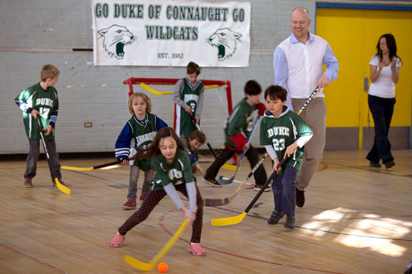Hockey Hall of Fame star Mats Sundin is partnering with U of T to fight childhood obesity (photos by Jon Horvatin)