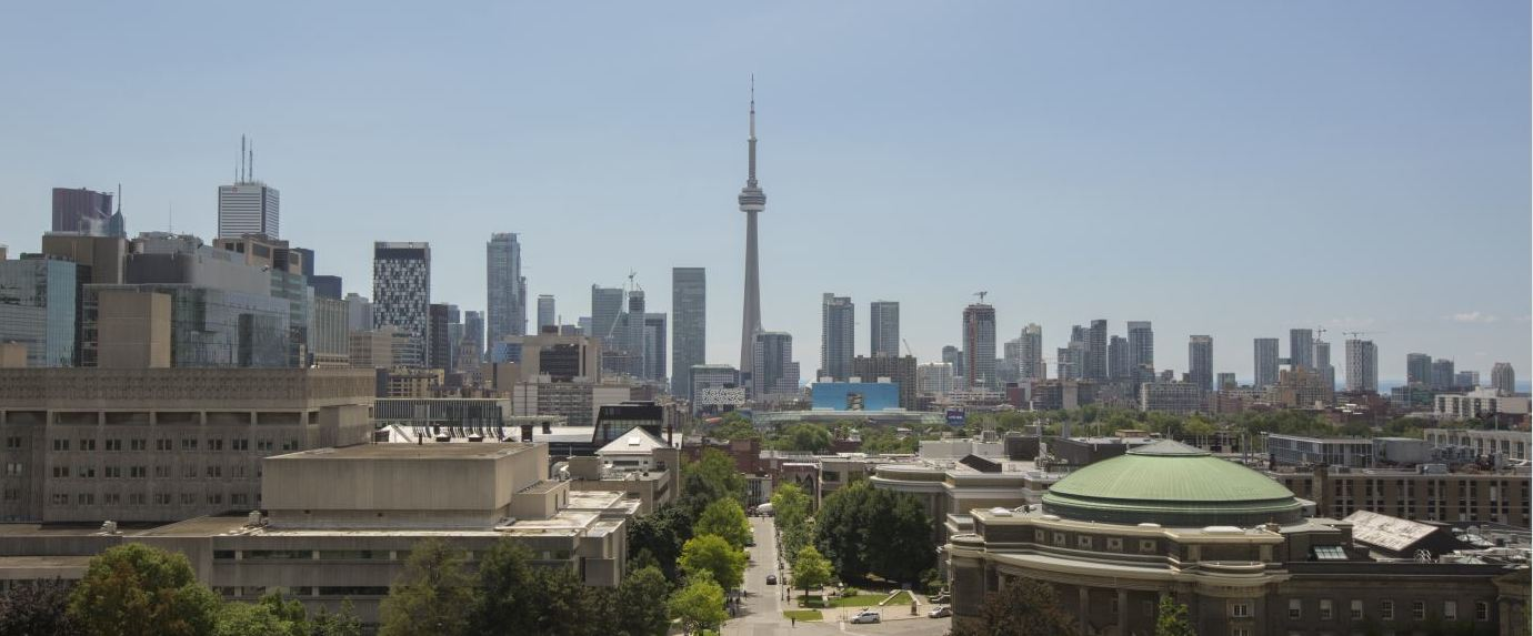 U of T campus and CN Tower