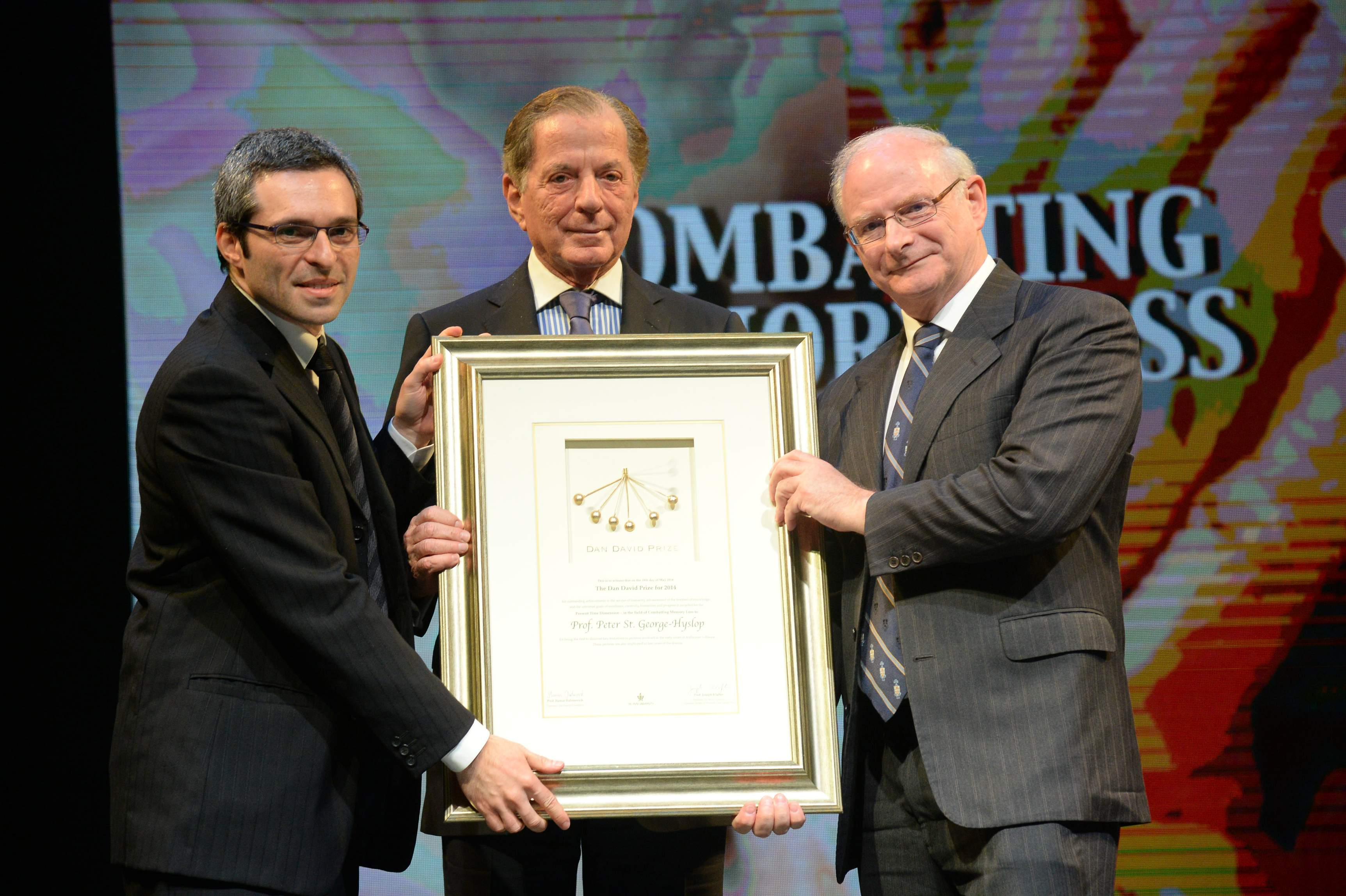 Professor Peter St George-Hyslop receives Dan David Prize in Tel Aviv, Israel