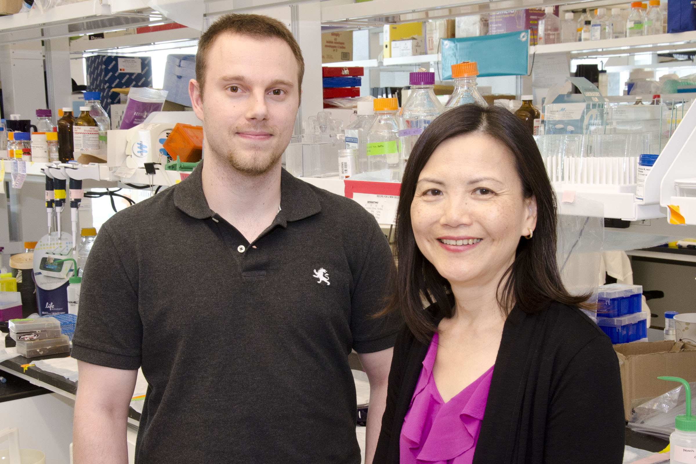 PhD candidate Jonathon Torchia and Professor Annie Huang