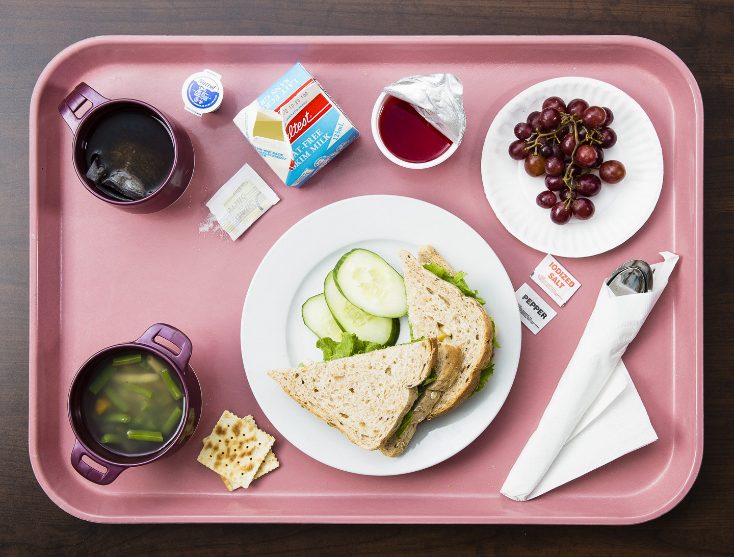 Tray of food from Scarborough General Hospital