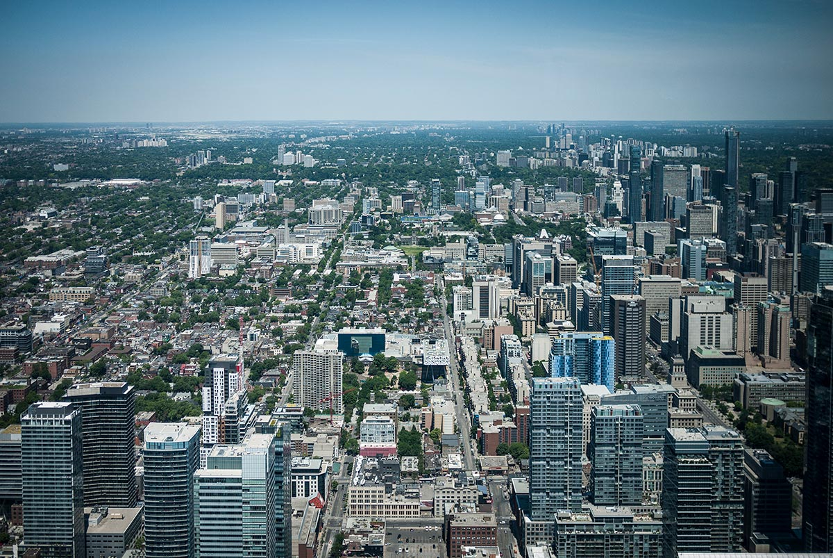 City of Toronto & University of Toronto campus.