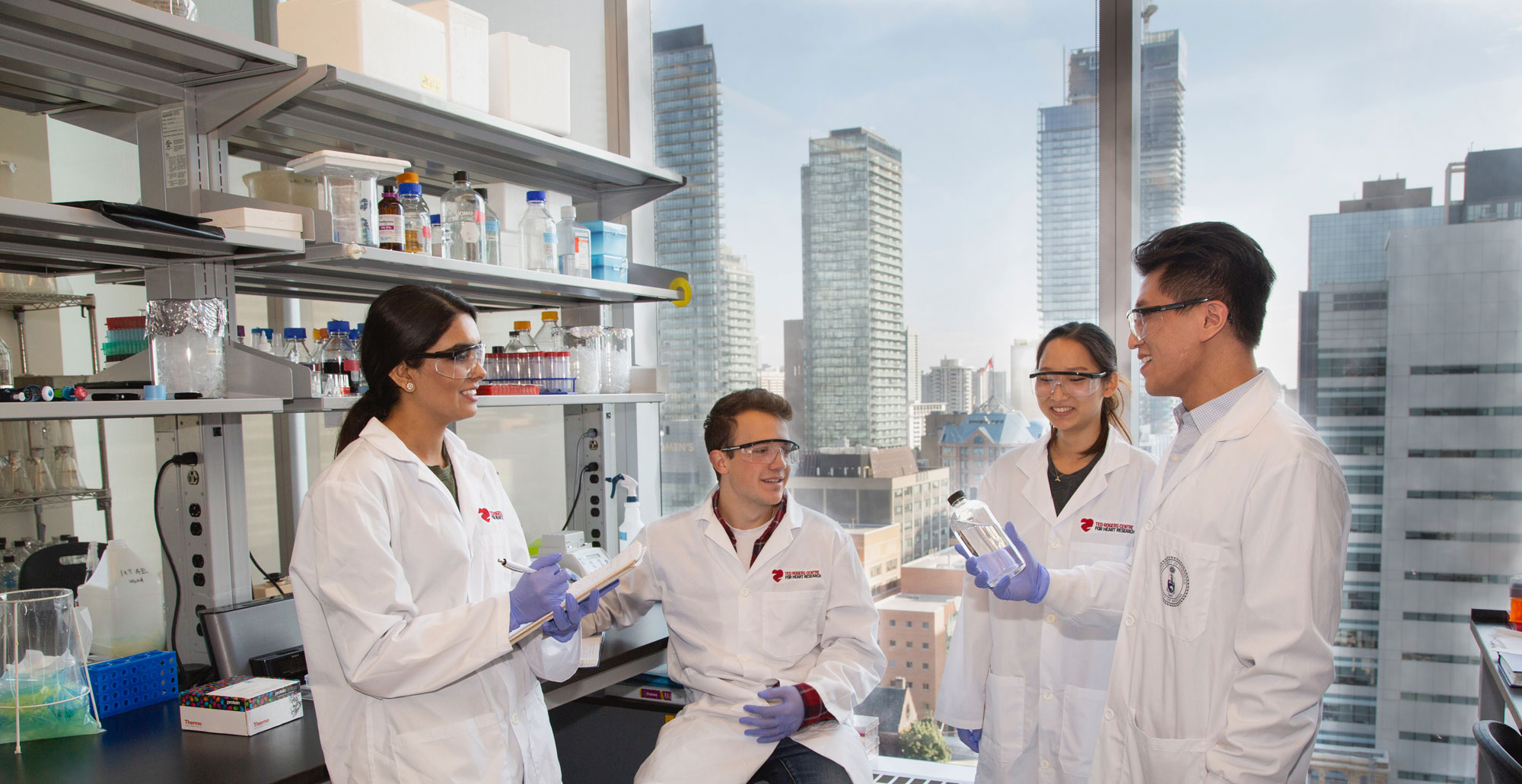 Translational Biology and Engineering Program (TBEP) labs in the west tower of MaRS