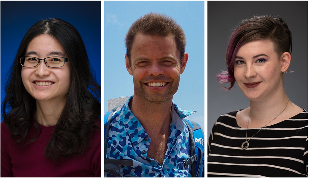 Portraits of postdoctoral fellow June Tan, professor Andy Fraser and senior PhD student Margot Lautens.